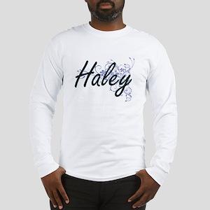Haley surname artistic design Long Sleeve T-Shirt