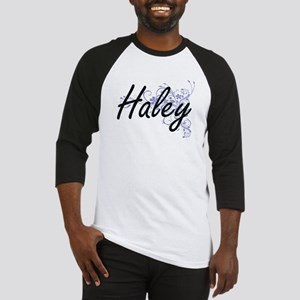 Haley surname artistic design with Baseball Jersey