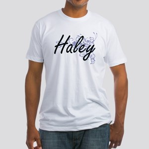 Haley surname artistic design with Flowers T-Shirt