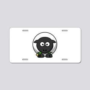 Cartoon Sheep Aluminum License Plate