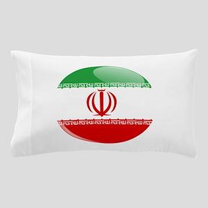 Iran flag button Pillow Case