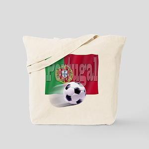 Soccer Flag Portugal Tote Bag