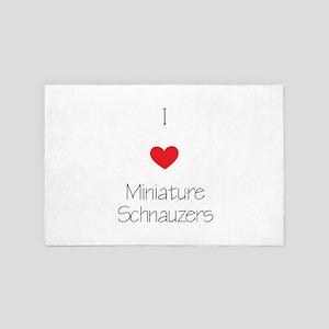 I Love Miniature Schnauzers 4' X 6' Rug