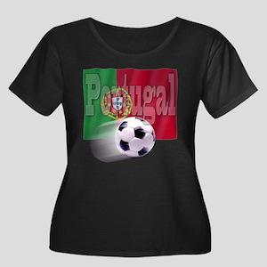 Soccer Flag Portugal Women's Plus Size Scoop Neck