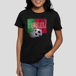 Soccer Flag Portugal Women's Dark T-Shirt
