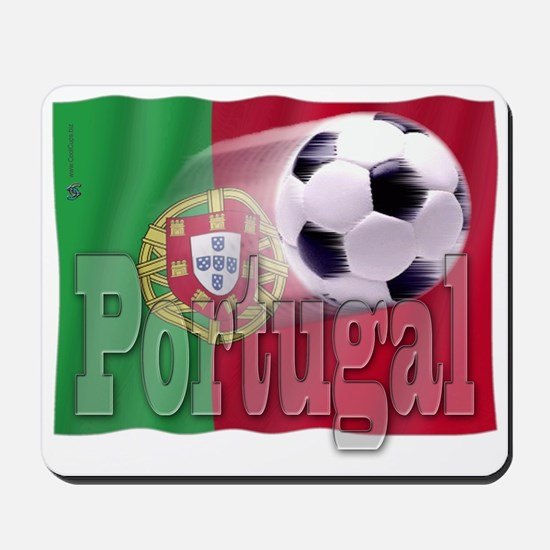 Soccer Flag Portugal Mousepad