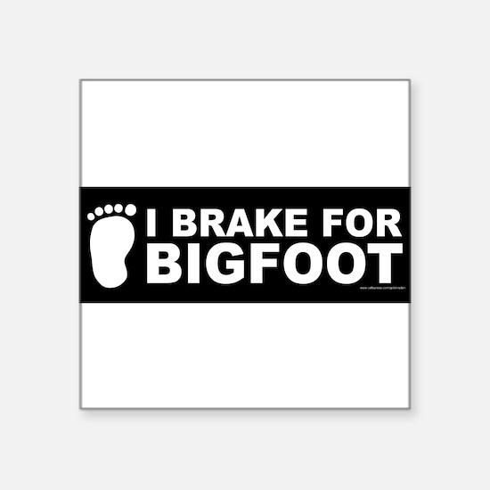 """Unique Bigfoot Square Sticker 3"""" x 3"""""""