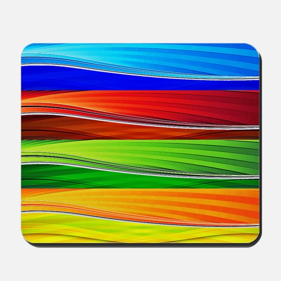 fields of bright colors Mousepad