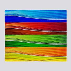 fields of bright colors Throw Blanket