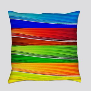 fields of bright colors Everyday Pillow