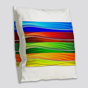 fields of bright colors Burlap Throw Pillow