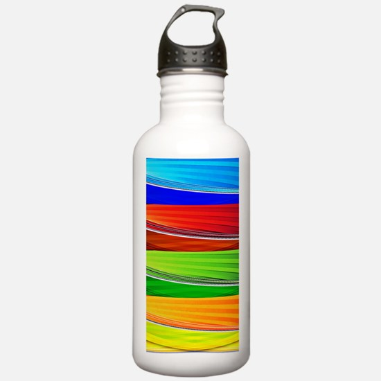 fields of bright color Water Bottle