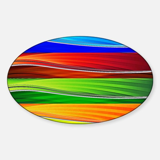 fields of bright colors Decal