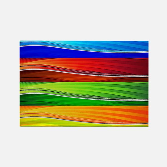 fields of bright colors Magnets