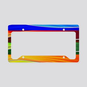 fields of bright colors License Plate Holder