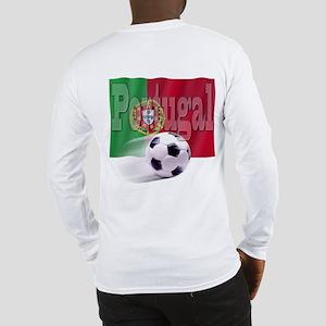 Soccer Flag Portugal (B) Long Sleeve T-Shirt