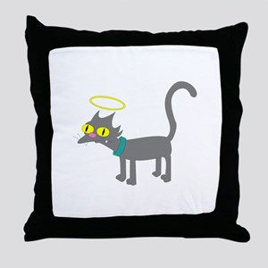 Snowball The Simpsons Throw Pillow