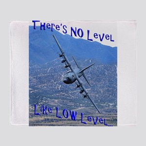 PERSONALIZED C-130 LOW LEVEL Throw Blanket