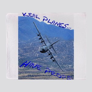 REAL PLANES Throw Blanket