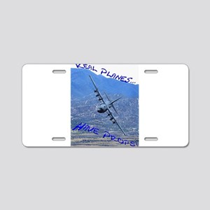 REAL PLANES Aluminum License Plate