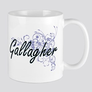 Gallagher surname artistic design with Flower Mugs