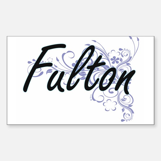 Fulton surname artistic design with Flower Decal