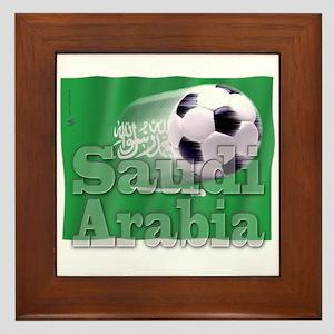 Soccer Flag Saudi Arabia Framed Tile