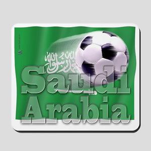 Soccer Flag Saudi Arabia Mousepad