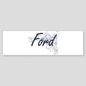 Ford surname artistic design with F Bumper Sticker