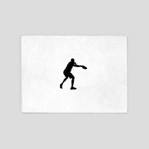 Discus throw silhouette 5'x7'Area Rug
