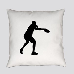 Discus throw silhouette Everyday Pillow