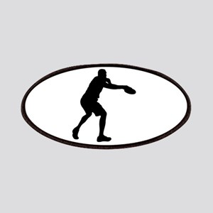 Discus throw silhouette Patch