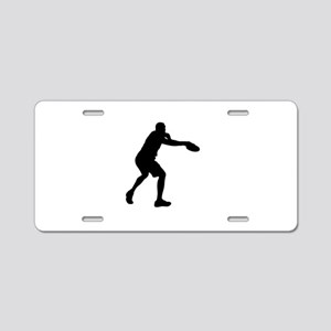 Discus throw silhouette Aluminum License Plate