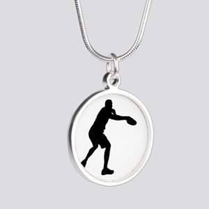 Discus throw silhouette Necklaces