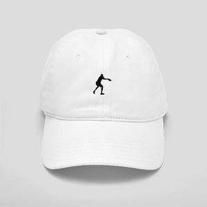 Discus throw silhouette Cap