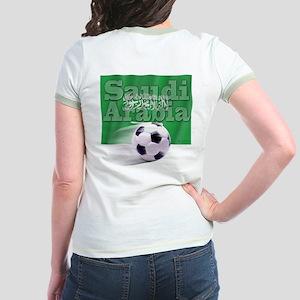 Soccer Flag Saudi Arabia (B) Jr. Ringer T-Shirt