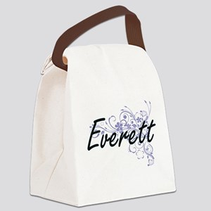 Everett surname artistic design w Canvas Lunch Bag