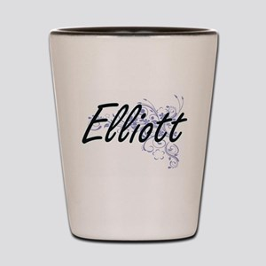 Elliott surname artistic design with Fl Shot Glass