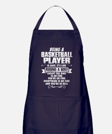 Being A Basketball Player... Apron (dark)