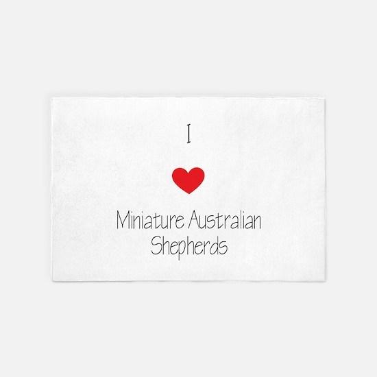 I Love Miniature Australian Shepherds 4' X 6&#