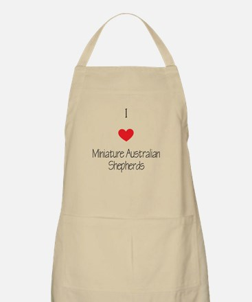 I love Miniature Australian Shepherds Apron