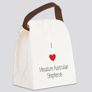 I love Miniature Australian Sheph Canvas Lunch Bag