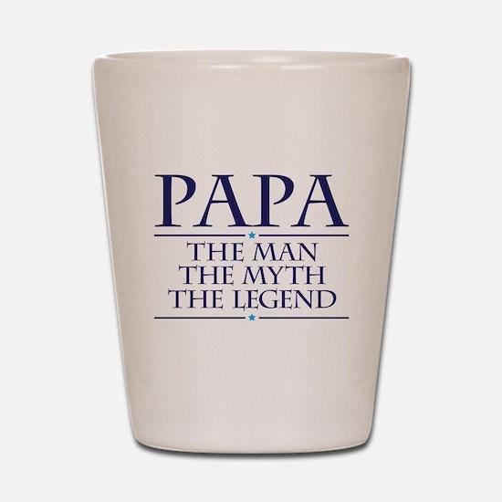 Papa Man Myth Legend Shot Glass