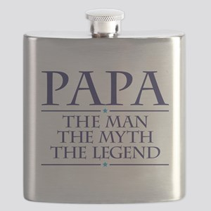 Papa Man Myth Legend Flask