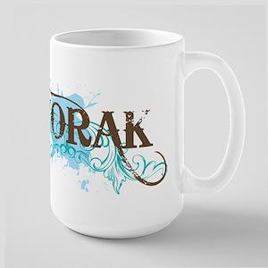 DVORAK grunge Large Mug
