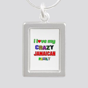 I love my crazy Jamaican Silver Portrait Necklace