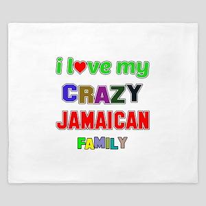 I love my crazy Jamaican family King Duvet