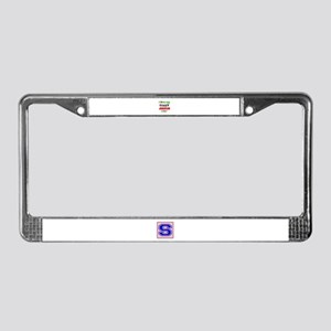 I love my crazy Jamaican famil License Plate Frame