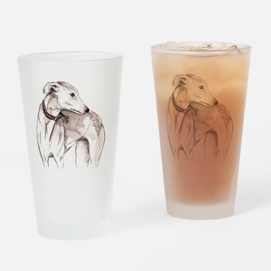 Funny Sighthound Drinking Glass