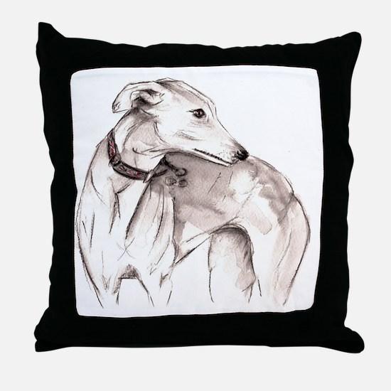 Cute Whippets Throw Pillow